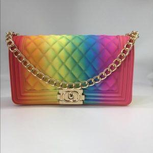 Handbags - Rainbow Jelly Purse